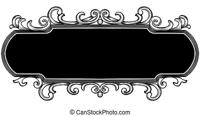titling frame - illustration of titling frame with abstract...