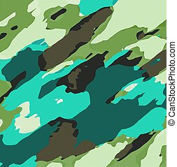 green blue painting abstract - green blue and brown painting...