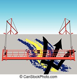 Symbols and the national colors of Barbados - Industrial...