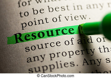 resource - Fake Dictionary, definition of the word resource