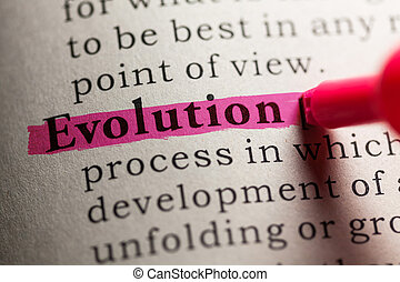 evolution - Fake Dictionary, definition of the word...
