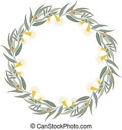 Eucalyptus wreath Floral border frame - Floral Frame Cute...