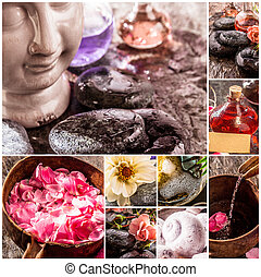 Spa and Zen Composite with Natural Products - Spa Themed...