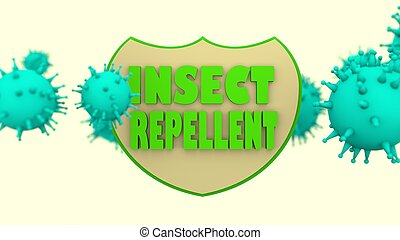 Stop mosquito transmitted viral disease shield. Anti virus protection