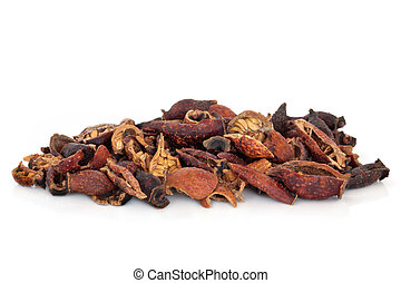 Cherokee Rose Hip - Dried cherokee rose hips, used in...