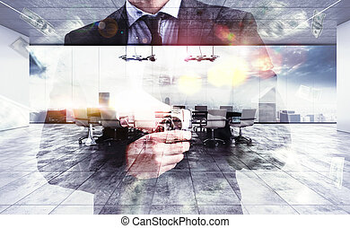 Meeting at headquarters - Successful businessman with a...