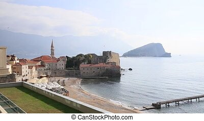 Budvas Old Town in Montenegro - Budvas Old Town Panoramic...