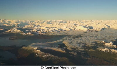 Flying Over Alaska Wrangell St Elias Preserve Mountains -...