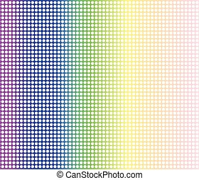 Rainbow Dot Perforations - A rainbow dot matrix faded...