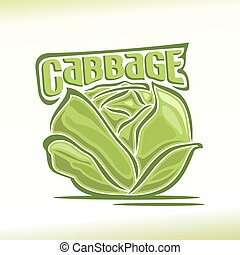 Cabbage - Vector illustration on the theme of the logo for...