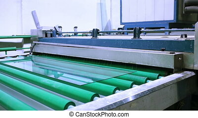 production and processing of glass. cutting and grinding glass