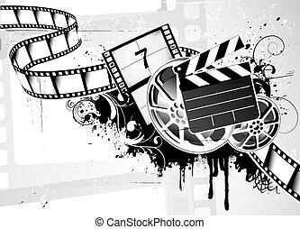movie film Background - illustration of grunge abstract...