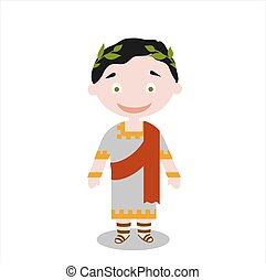 Roman senator Vector illustration on white background