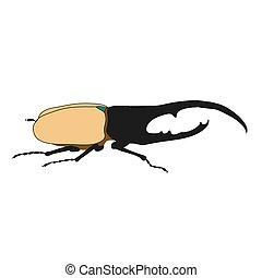 Beetle. Vector illustration on white background