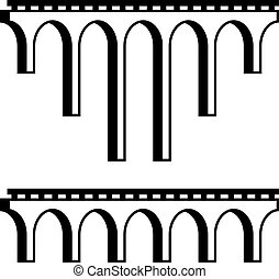 classical viaduct bridge black symbol - illustration for the...