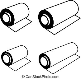 roll of any foil black symbols - illustration for the web