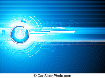 abstract hi-tech Background - illustration of abstract...