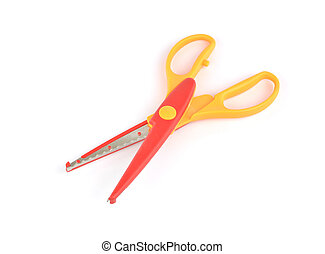 Used serrated color scissors