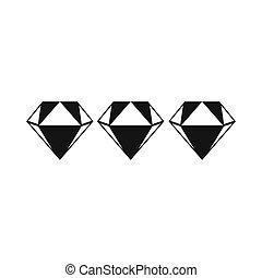 Three diamonds icon