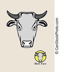 Cow Head Logo, art vector design