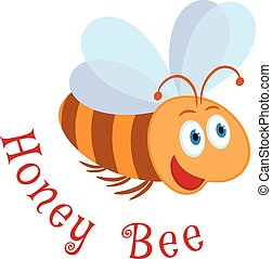 Honey Bee - Honey bee cartoon symbol. Logo template