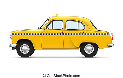 Vintage Yellow Taxi