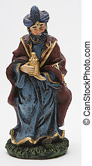 Balthazar the wise man - vintage figure of the christmas...