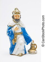 Christian plastic figurine - vintage figure of the christmas...