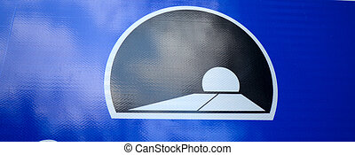 traffic sign of tunnel - Picture of a traffic sign of tunnel