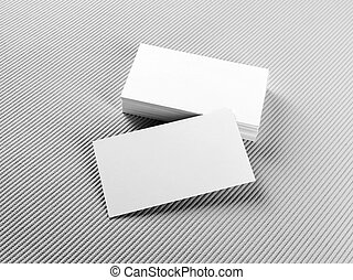 Stack of business cards - Blank business cards on gray...