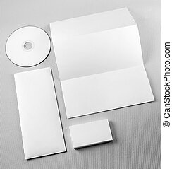 Blank corporate identity set Corporate identity template on...