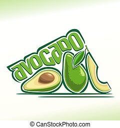 Avocado - Vector illustration on the theme of the logo for...