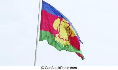 Flag of Krasnodar Krai - Waving on wind Flag of Krasnodar...