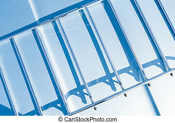 metal frame shadows - abstract of shadows on a metal frame...
