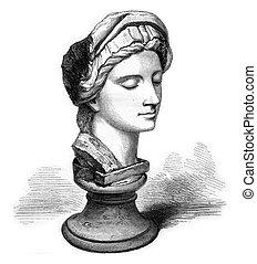 Kensington Museum, London, A marble Michelangelo, vintage...