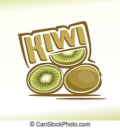 Kiwi - Vector illustration on the theme of the logo for...