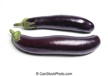 Eggplant on Isolated White Background