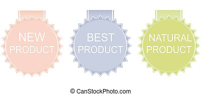 new product, best product, natural product Vector