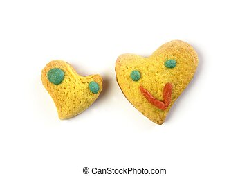 funny valentine heart biscuits shapes