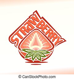 Logo for strawberry - Vector illustration on the theme of...