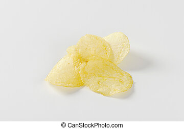Salted potato chips