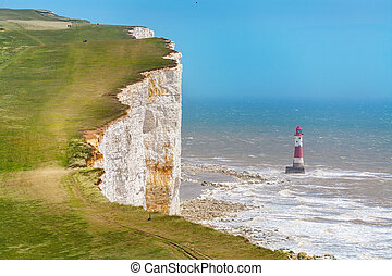 Beachy Head East Sussex, England, UK - Chalk cliffs and...