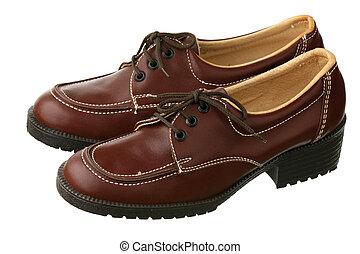 pasado de moda, hembra, zapatos