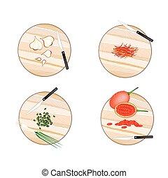Garlic, Saffron Thread, Scallion and Gac Fruit - Vegetable...