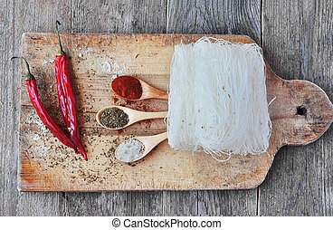 Dried Rice Noodles, asian food,