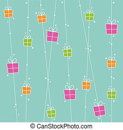 Background with gift boxes and stars