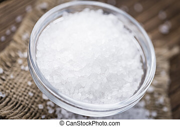 Coarse Salt (selective focus) as detailed close-up shot