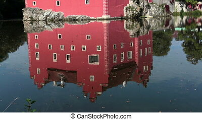 Cervena Lhota. Czech Republic. Castle on the lake