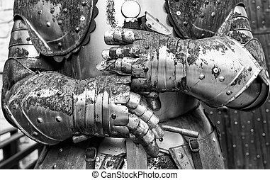 Detail of an old medieval armor.