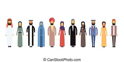 Arab Different People Group Flat